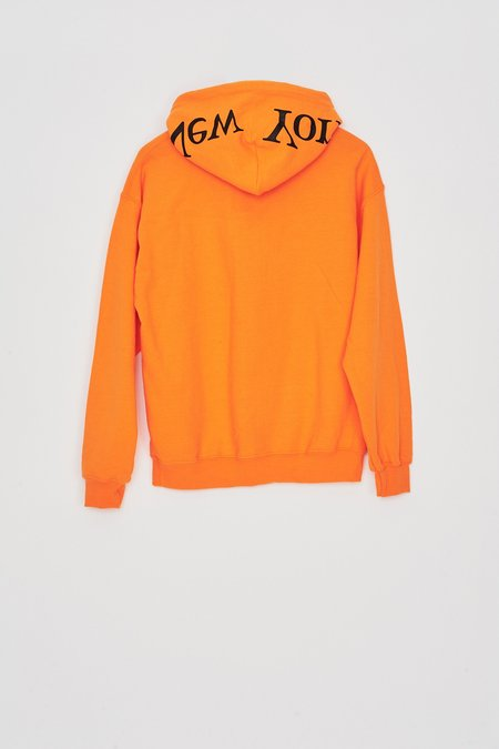 Assembly New York Cotton Logo Hoodie - Orange