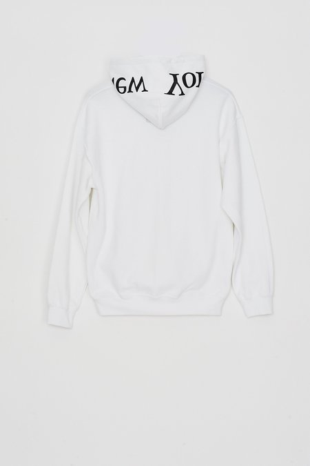 Assembly New York Cotton Logo Hoodie - White