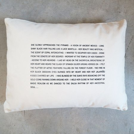 Pulpoetry Mexican Lady Pillow by Barbara Hill