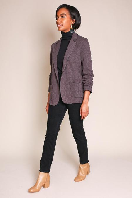 Majestic Double Face Blazer in Chocolate Chine/Noir