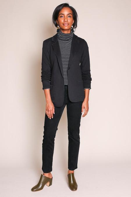 Majestic Double Face Blazer in Noir/Anthracite Chine