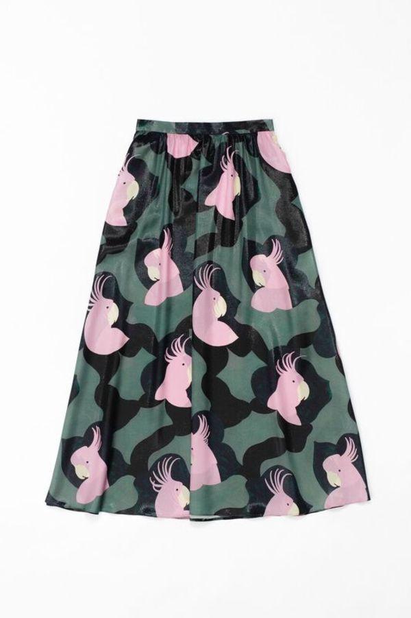 Samuji KATIANA Skirt in Green w/ Pink and Black