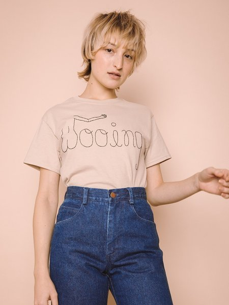 Wooing T-Shirt   Hand Embroidered