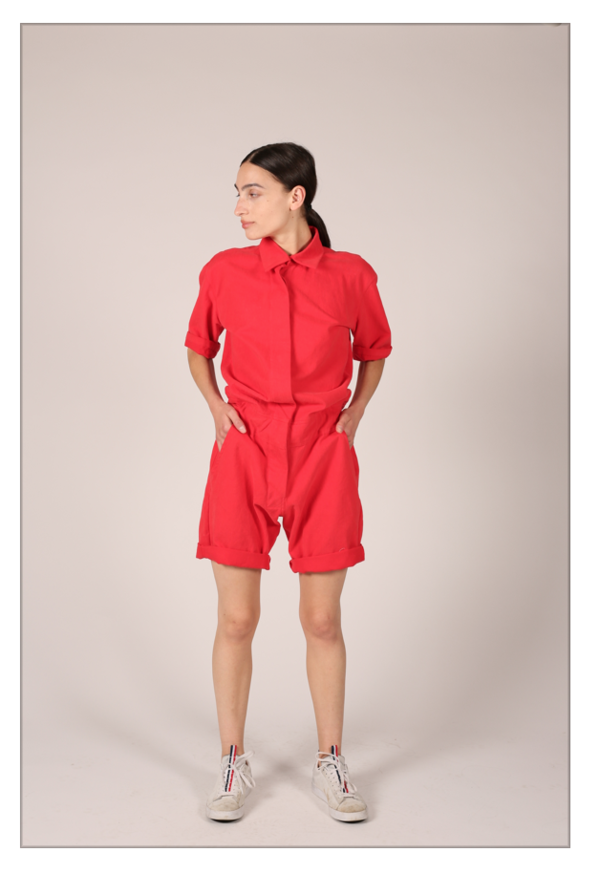 Unisex Nahanni Arntzen Behanni shorts jumpsuit - poppy
