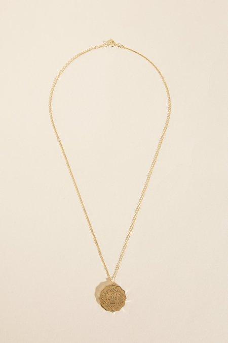 Haati Chai Anna Coin Pendant Necklace - 14K Gold