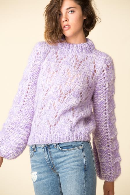 Ganni Julliard Mohair Sweater - Lilac