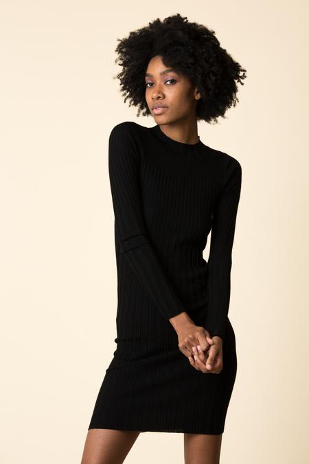 ATM Merino Wool Rib Sweater Dress