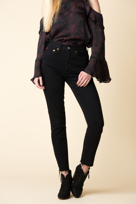 Re/Done High Rise Ankle - Black