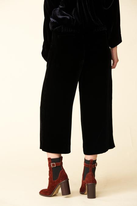 Tibi Silk Velvet Culotte
