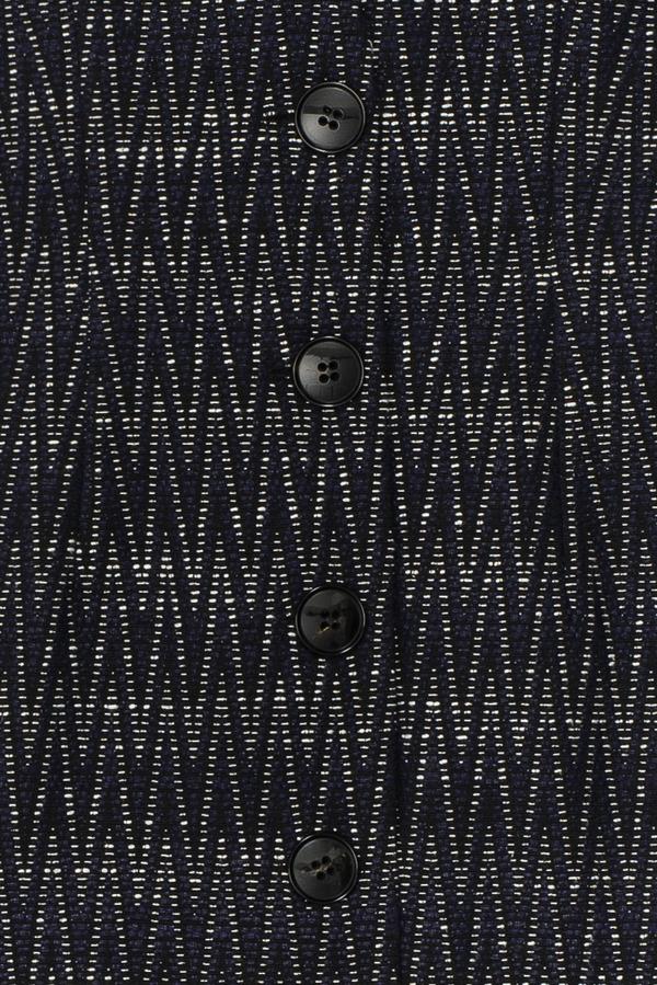 Samuji CHIKARA DRESS in Navy Black White Print