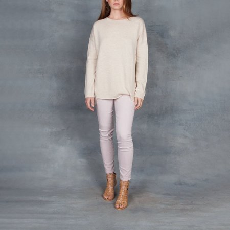Organic by John Patrick Loose Fit Pullover Sweater - Beige