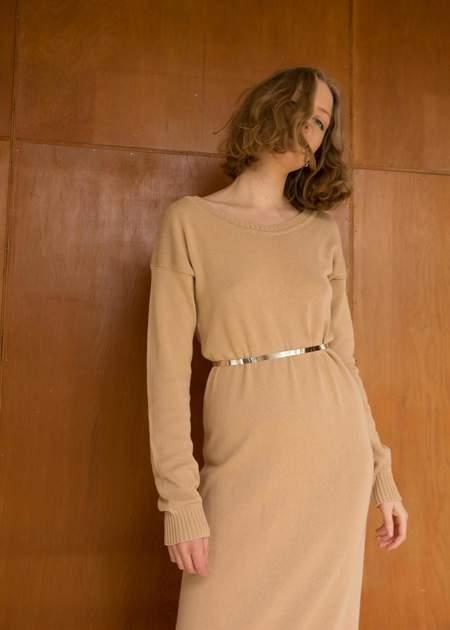 Penny Sage Mina Dress - Camel