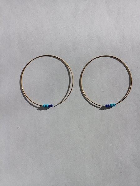 Melissa McArthur Turquoise & Lapis Lazuli Earrings