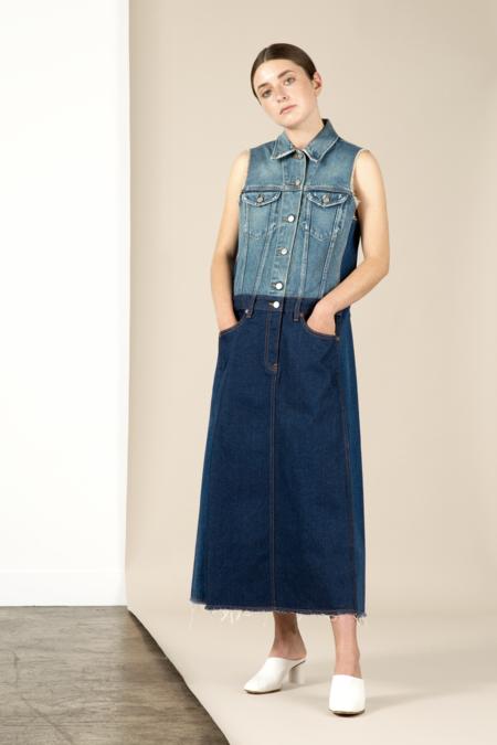 MM6 Stonewash Denim Dress