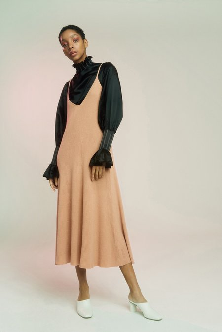 Ryan Roche Ribbed Circle Dress