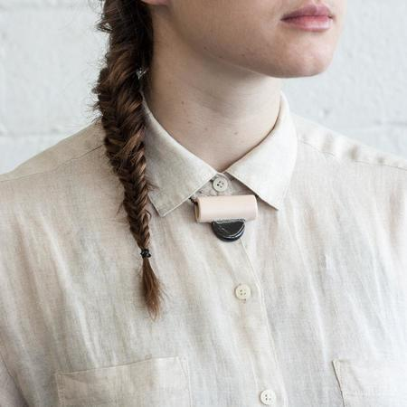 YYY Collar Tab Necklace - Peach