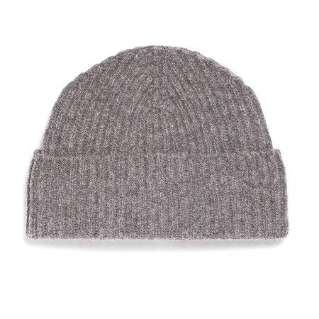 Unis Lambswool Knit Hat - Heather Grey