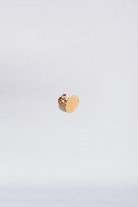 Kathleen Whitaker 14K Gold Sequin Stud - 9mm