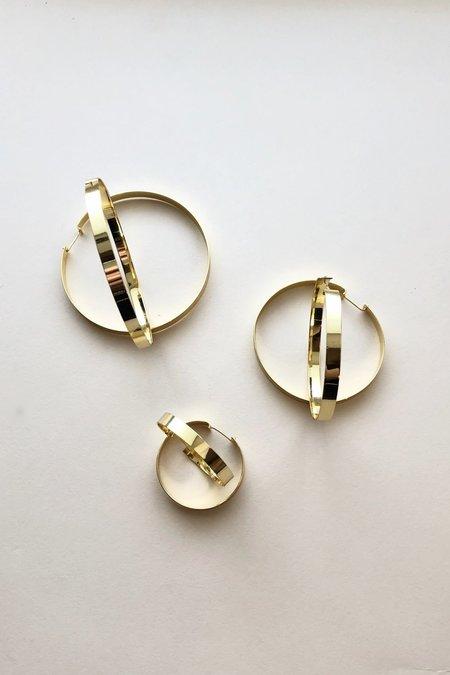 Machete 14k Mirrored Gold Suzi Hoops