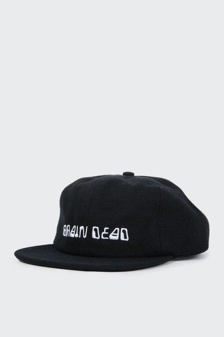Brain Dead Alien Font Cap - Black