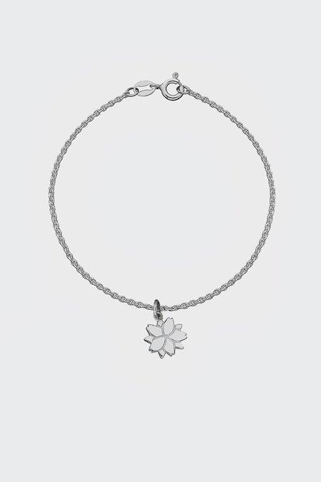 Meadowlark Cherry Blossom Charm Bracelet - Silver