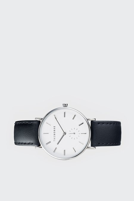 The Horse Classic Watch - Silver/Black Leather