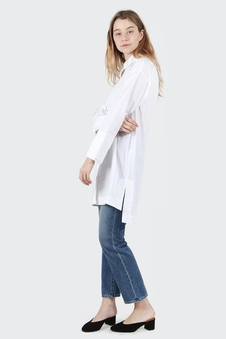 Native Youth Illuminate Shirt Dress - White
