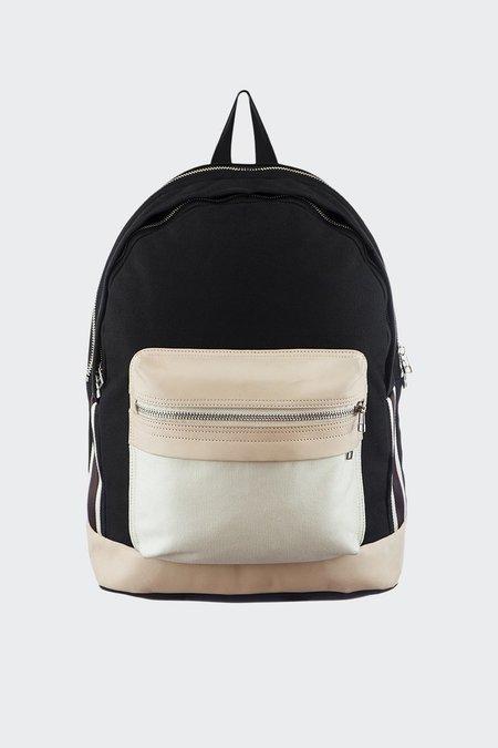 TAIKAN EVERYTHING Lancer Backpack - black/off white/veg tan leather