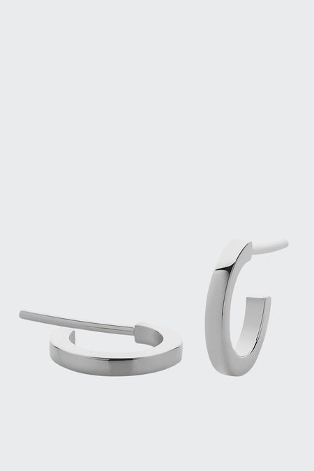 Meadowlark Medium Box Hoop Earrings - Silver