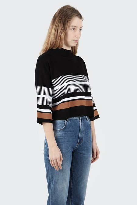 Native Youth Noontide Knit Top - Black