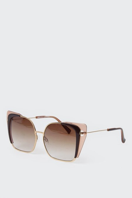 Kaibosh Queen Bee Sunglasses - brown pollen/gold