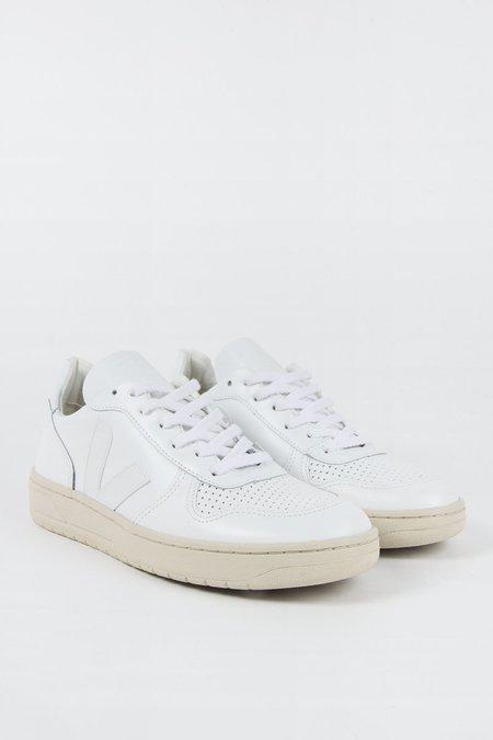 VEJA V10 Leather - extra white/extra white