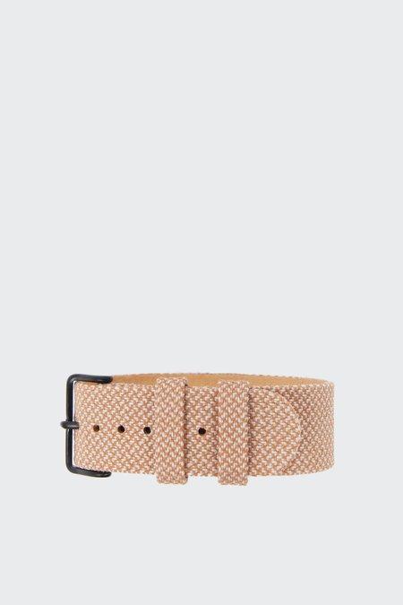 TID Watches Wristband - twain salmon/steel buckle