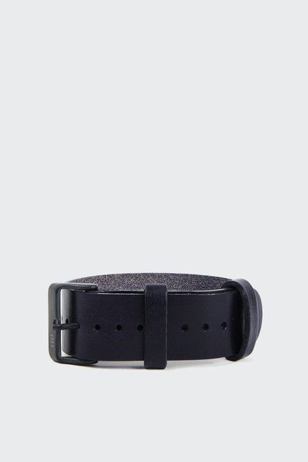 TID Watches X GAG Slow Down Wristband - dark navy leather
