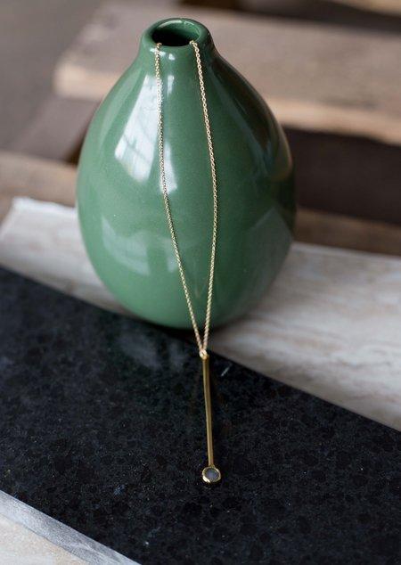 Sarah Mulder Kindle Large Bar Necklace  - Gold (3 Stone Options)
