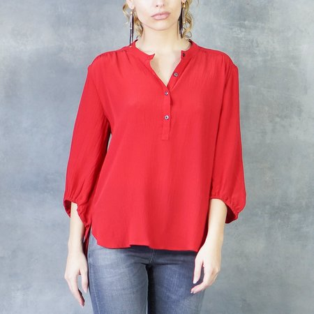 The Podolls Belle Silk Blouse in Red
