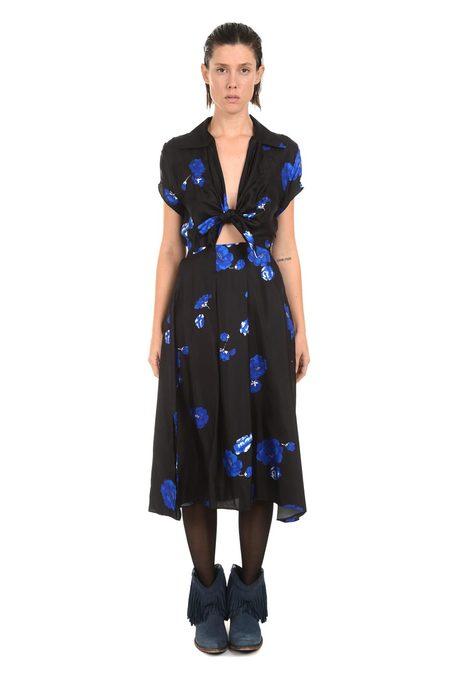 Lindsey Thornburg Black Floral Clark Dress
