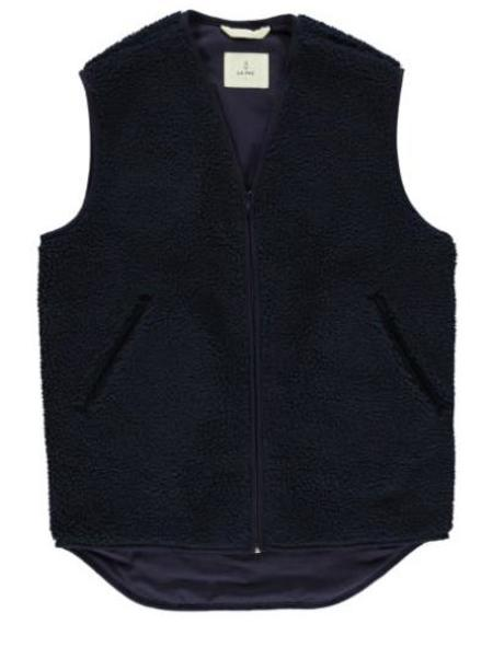 Wool Feltla Paz Penouco Navy Vest Jacket