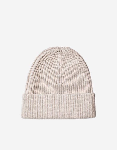 Filippa K Rib Knit Hat Pebble