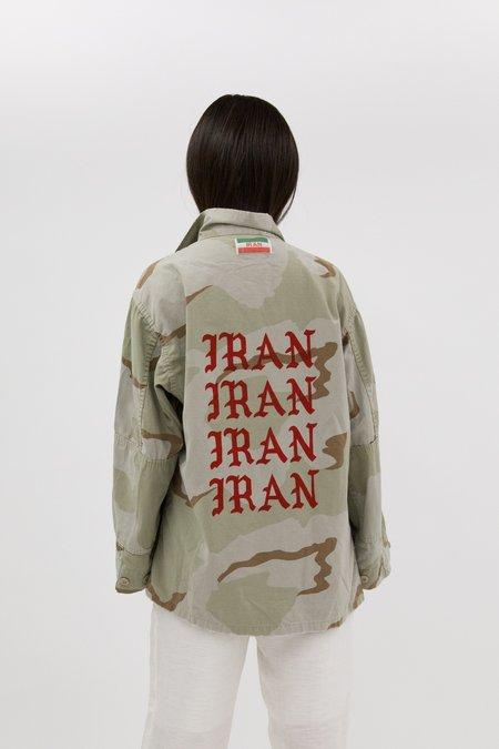 Taravat Talepasand x West End Select Shop Desert Camo Army Jacket