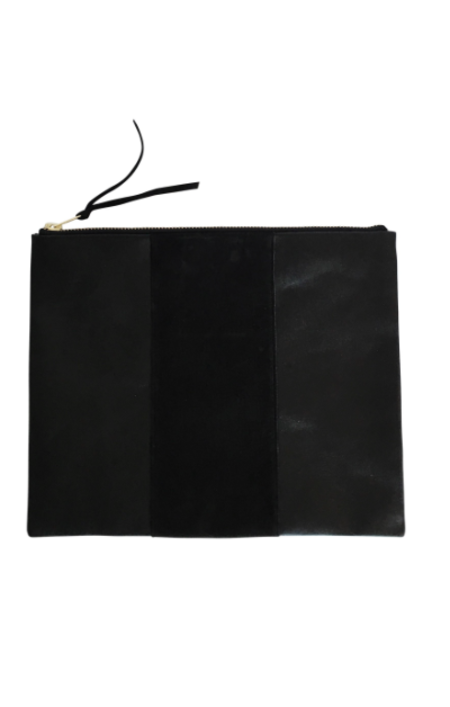 Sunday Supply Co. Grande Panel Zippy Clutch - Black