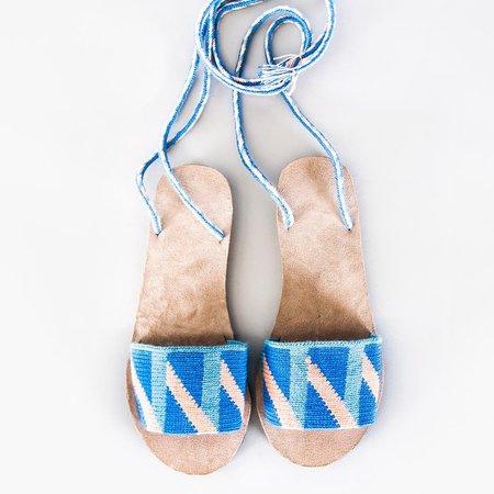 Someware Lace-Up Sandals - Biarritz Azure