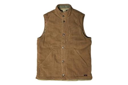 Faherty Brand Mock Neck Reversible Vest on Cord/Neskowin
