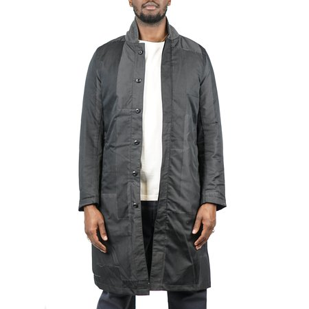 Remi Relief Patchwork Military Inner Down Coat - Black