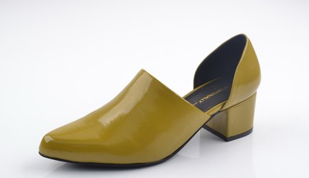"""Intentionally __________."" Perf-Hi Mustard Crinkle Patent"