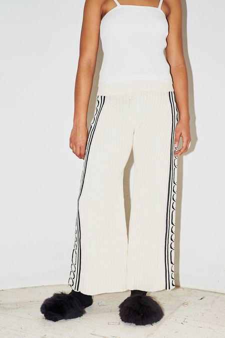 Pari Desai Cotton Chainz Jacquard Knit Pant
