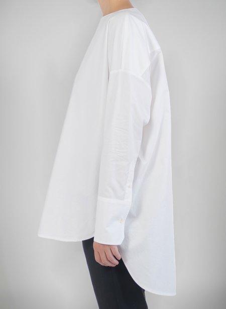 Priory Selt Tunic - Paper White Poplin
