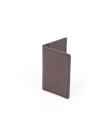 Wood&Faulk Dark Brown Front Pocket Wallet