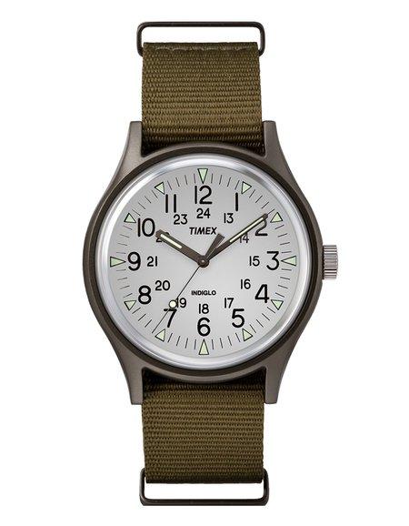 Timex Allied MK1 Aluminum Watch - White Brown Olive