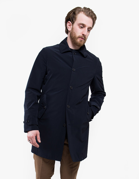 Aspesi I417 Impermeabile Raincoat - BLACK